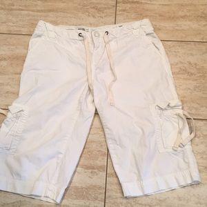 AE Cargo Shorts White Sz 10